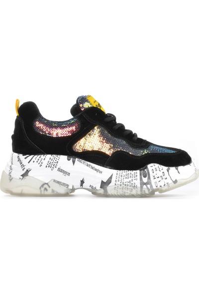Vizon Ayakkabı Kadın Siyah Spor Ayakkabı VZN19-024K