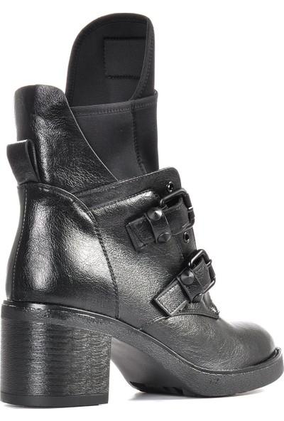 Vizon Ayakkabı Kadın Siyah Bot VZN19-027K