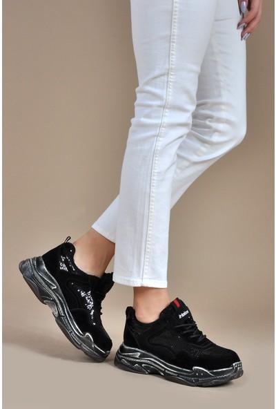 Vizon Ayakkabı Kadın Siyah Spor Ayakkabı VZN19-036K