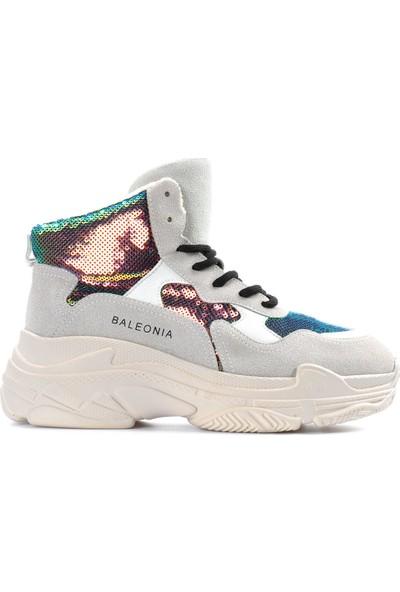 Vizon Ayakkabı Kadın Bej Spor Ayakkabı VZN19-038K