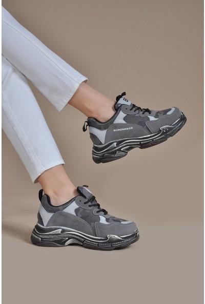 Vizon Ayakkabı Kadın Gri Spor Ayakkabı VZN19-040K