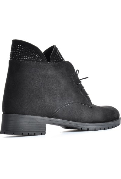 Vizon Ayakkabı Kadın Siyah-Süet Bot VZN19-043K