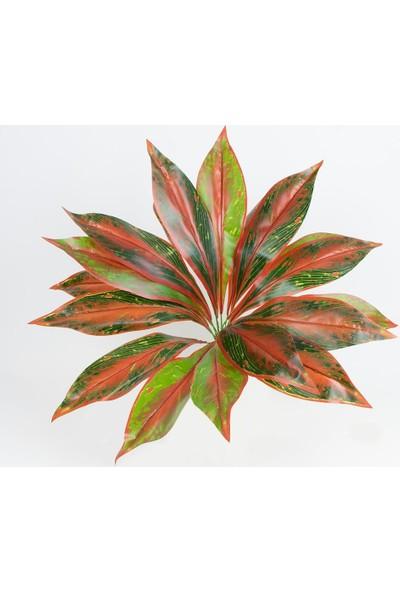 Çiçekmisin Renkli Büyük Yapay Yaprak Demet - Taba Yeşil
