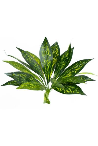 Çiçekmisin Renkli Büyük Yapay Yaprak Demet - Yeşil Sarı
