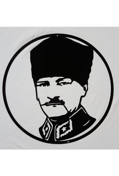 İdeal Tasarim Ev Dekorasyon Lazer Kesim Metal Tablo Dekoratif Eşya Atatürk Portre