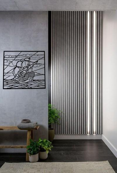 İdeal Tasarim Ev Dekorasyon Lazer Kesim Metal Tablo Dekoratif Eşya Dalgalardaki Gemi