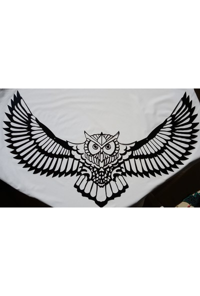 İdeal Tasarim Ev Dekorasyon Lazer Kesim Metal Tablo Baykuş