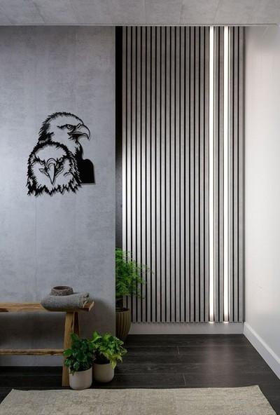 İdeal Tasarim Ev Dekorasyon Lazer Kesim Metal Tablo Çift Başlı Kartalideal Tasarım