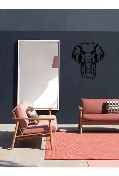 İdeal Tasarim Ev Dekorasyon Lazer Kesim Metal Tablo Fil Kafası