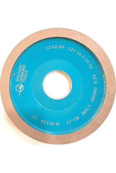 Pultuva Çetin Diamond Karbür Bileme Takım Bileme 12A2-20 x 125 x 10 mm