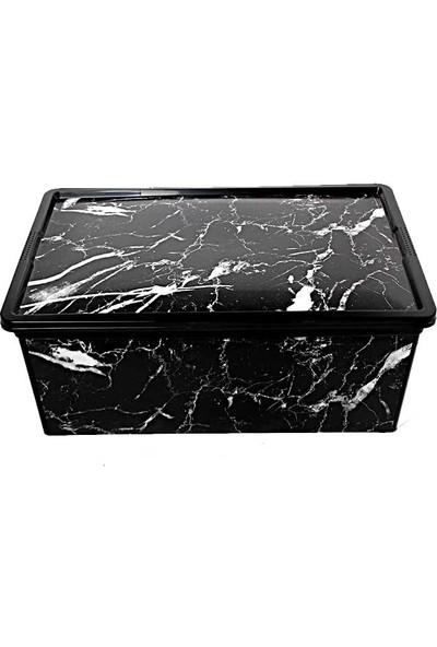 Trend Box Black Marble- Dekoratif Saklama Kutusu 10 Litre