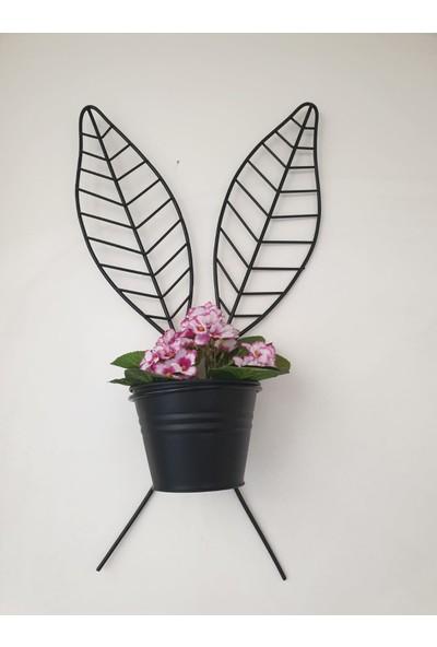 Desen Dekorasyon Yaprak Saksı