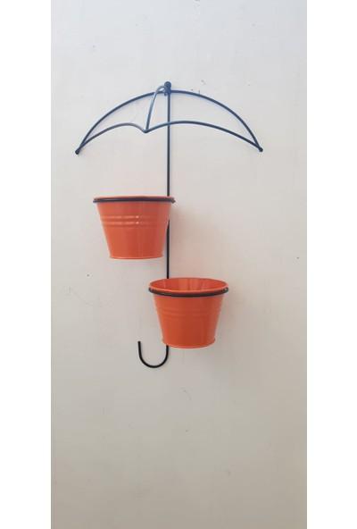 Desen Dekorasyon Çift Saksılı Şemsiye