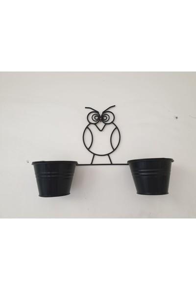 Desen Dekorasyon Küçük Baykuş Saksı