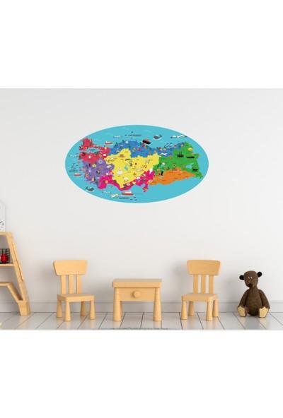 Ega Duvar Sticker Eğitici Türkiye Haritası
