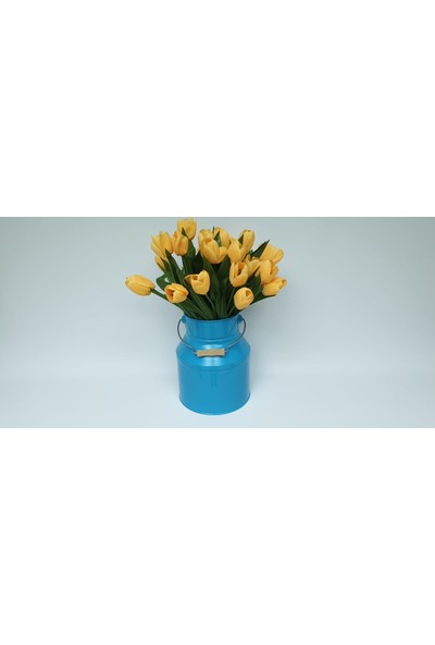 Desen Dekorasyon Güğüm Vazo Mavi Renk