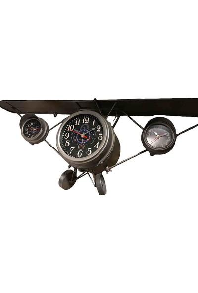 Scorbis Uçak Görünümlü Duvar Saati
