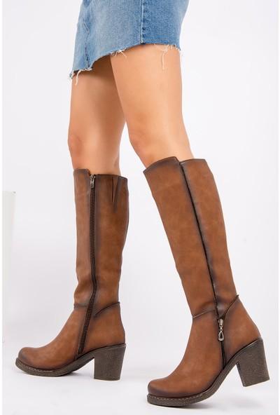 Fox Shoes Taba Kadın Çizme G674252009