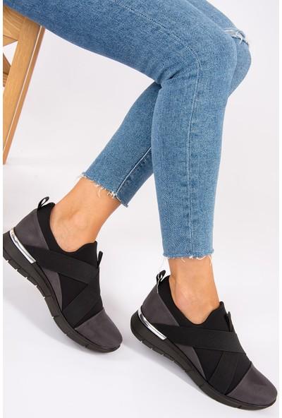 Fox Shoes Füme Kadın Ayakkabı F274040202