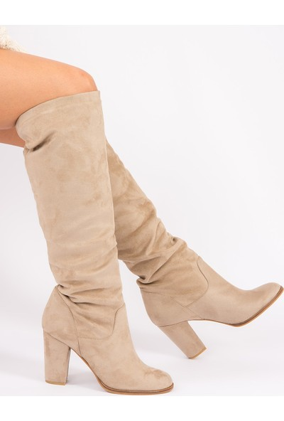 Fox Shoes Vizon Kadın Çizme G572443602