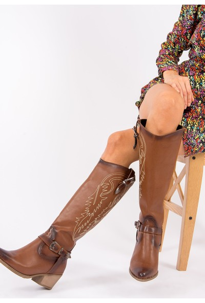 Fox Shoes Taba Kadın Çizme G996030009