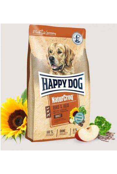 Happy Dog Naturcroq Biftekli ve Pirinçli Yetişkin Köpek Maması 15 kg