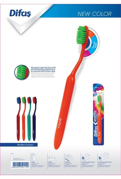 Difaş New Color Diş Fırçası 2'li