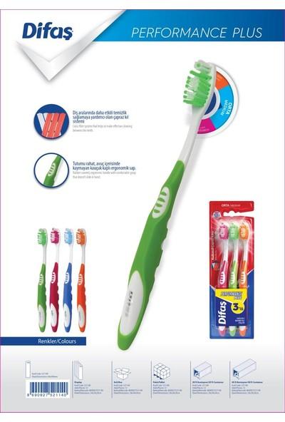 Difaş Performance Plus Diş Fırçası 3'lü