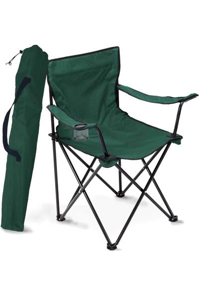 Piknik Dünyası Katlanır Sandalye Kamp Sandalyesi Balkon Sandalyesi Katlanabilir Piknik ve Bahçe Sandalyesi Yeşil
