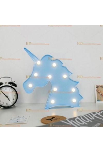 Milagros Mavi Unicorn LED Lamba