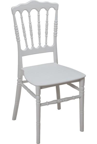 Mandella Silver Sandalye Napolyon (4 Adet)