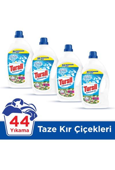 Tursil Matik Jel Sıvı Çamaşır Deterjanı Kır Çiçekleri 44 Yıkama 4'lü Set