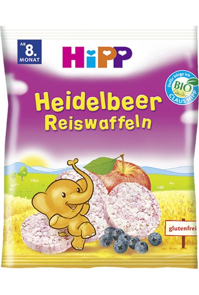 Hipp Yabanmersinli Pirinçli Bebek Gofreti 30 gr