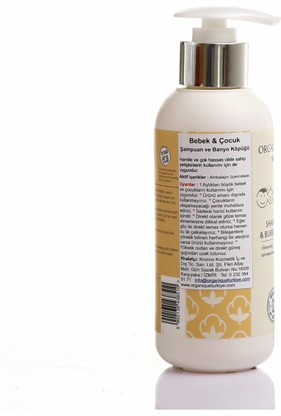 Organique Bebek Şampuanı Ve Banyo Köpüğü 250 ml