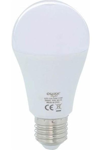 Osaka Light 15W A60 LED Ampul E27 Beyaz 3'lü LED111 3