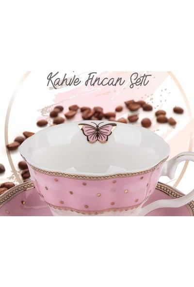 Aryıldız Royal Queen New Bone Kahve Fincan Takımı 6 Lı (12 Parça)