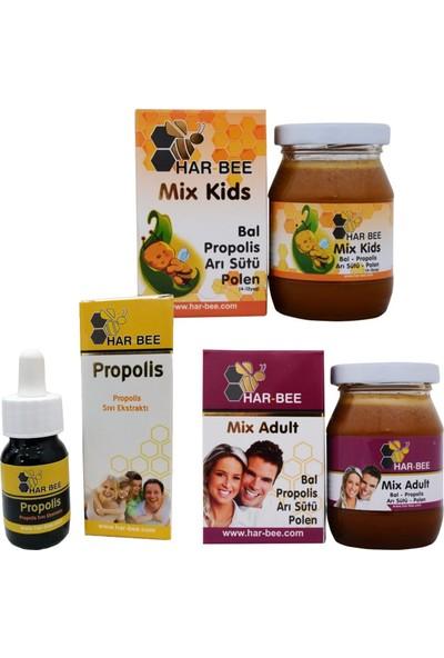 Harbee Propolis Mix Karışımlar Çocuk ve Yetişkin Aile Paketi