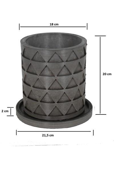 Grandbeton Beton Saksı 18 x 21 cm