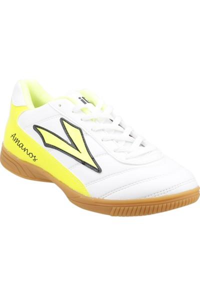 Lig Amanos Futsal Voleybol Erkek Salon Spor Ayakkabı Beyaz