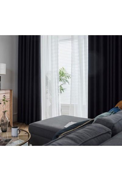 Güneş Perde Blackout Karartma Siyah Fon Perde 80 x 250 cm