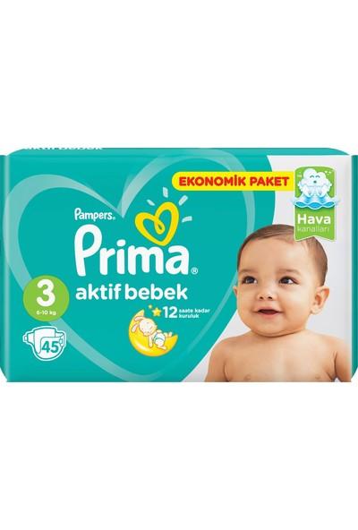 Prima Ekonomik Paket 3 Numara 45 Adet Bebek Bezi