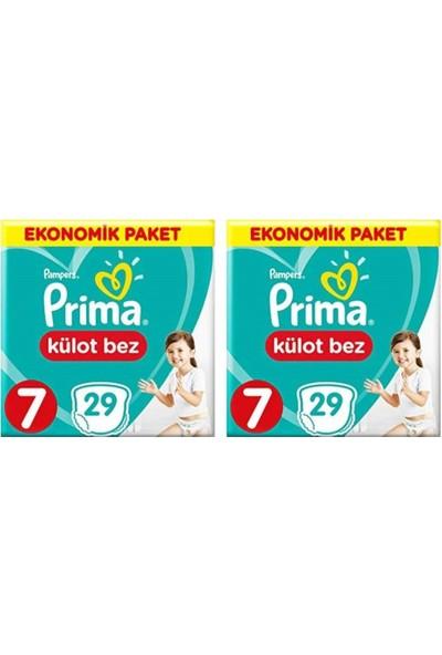 Prima Ekonomik Paket 7 Numara Külot Bez 29'lu x 2 Paket 58 Adet