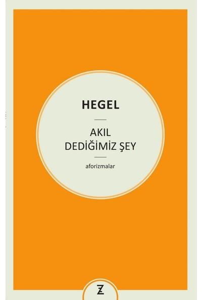 Akıl Dediğimiz Şey - Hegel