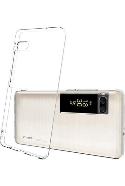 Microcase Meizu Pro 7 Ultra İnce Soft Silikon Kılıf - Şeffaf