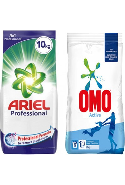 Ariel Professional 10 kg + Omo Active 10 kg