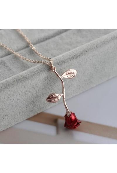 Avantajewellery Rose Gül Kolye Aşkın Sembolü 2 Renk Seçeneği - Hediye Kutusunda Gönderim