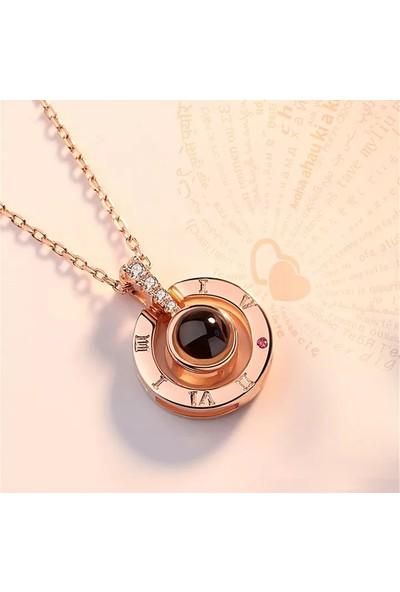 Avantajewellery 100 Dilde Seni Seviyorum Projeksiyon Kolye - Sevgiliye Hediye