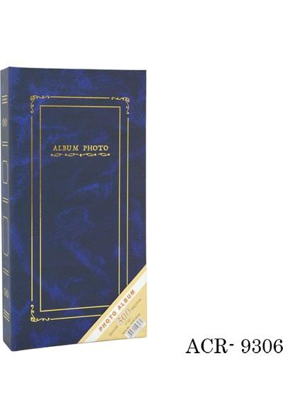 ACR 300'lük 10 x 15 cm Ciltbezli Fotoğraf Albümü Mavi