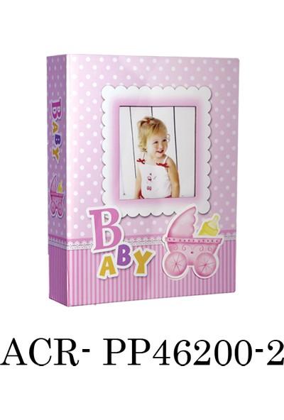 ACR 200'lük 10 x 15 cm Bebek Fotoğraf Albümü Pembe