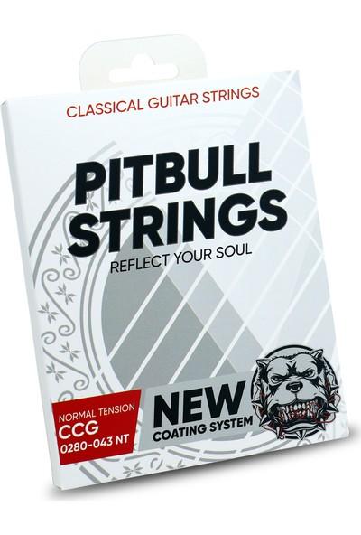 Pitbull Strings Coated New Version 0280-043 Normal Tension Takım Tel Klasik Gitar Teli